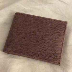 {cole haan} brown leather wallet for him