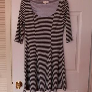 FINAL PRICE Ina Striped Fit and Flare Dress
