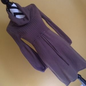 New Direction sweater dress Small Taupe/brownish