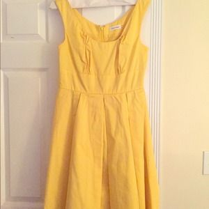 Bright Yellow Spring Dress - Calvin Klein