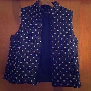LOFT Outerwear - Loft polka dot puffer vest
