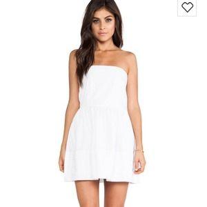white urban outfitters strapless dress on Poshmark