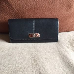 Black Slim Envelope Coach Wallet