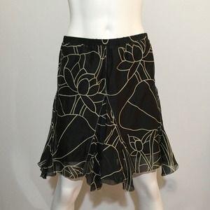 Max Studio Dresses & Skirts - Max Studio Flared Black and Tan Skirt