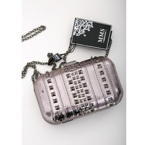 Silver Studded clutch purse