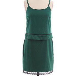 Alice & Olivia silk green dress small