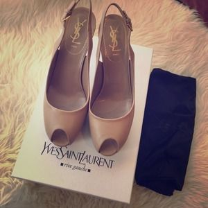 Saint Laurent Shoes - NWT YSL Palais Slingback pumps in Nude