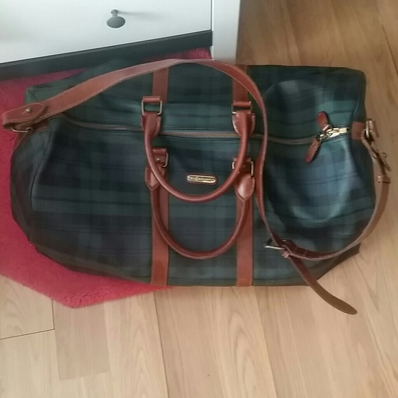 b5e311e9509f Ralph Lauren Vintage blackwatch travel duffle bag.  M 54cbdb1a4d923306a8001a40