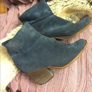 Jeffrey Campbell Blue suede boots