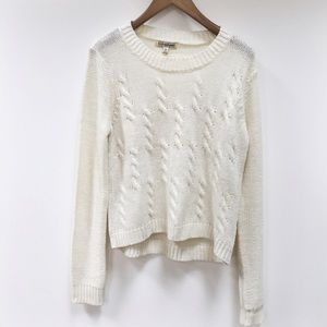 Off white knitted sweater