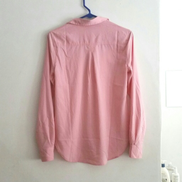 38 Off American Eagle Outfitters Tops Hp Pink Button