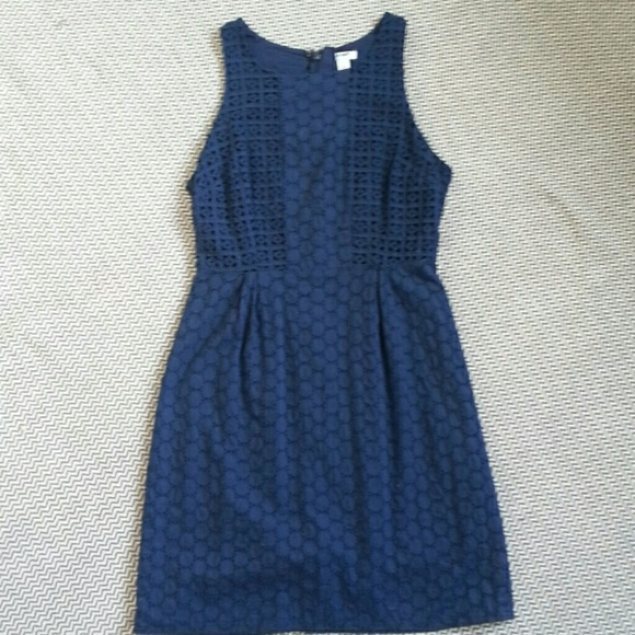 58% off Old Navy Dresses & Skirts - Navy Blue Eyelet Dress from ...