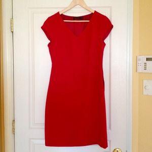 The Limited bright red dress knee length