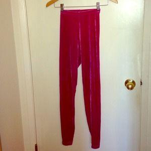 d047c76e0c823 American Apparel Pants - American Apparel hot pink velvet leggings!