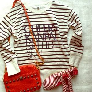 J crew striped sweatshirt
