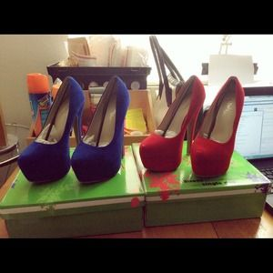 NWB Platform heels (Red Color Only)