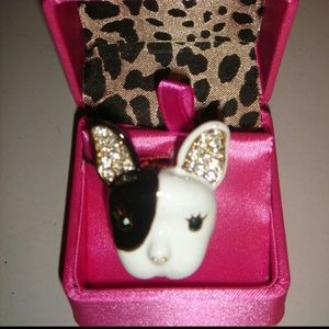 ♡SALE♡ Betsy Johnson Bulldog Ring
