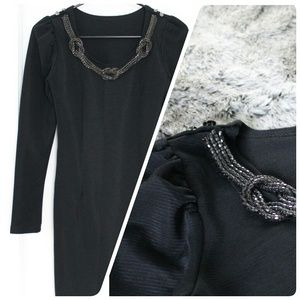 Chain Necklace Black Dress