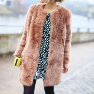 ASOS longline faux fur coat