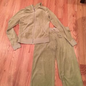 Juicy Couture Velour zip up and pants
