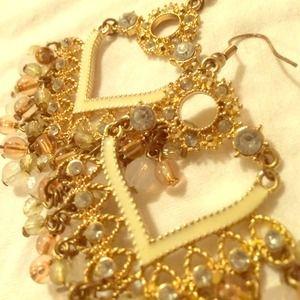 Drop heart shape earrings