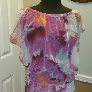 Tops - Watercolor Print Top