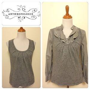 FLASH SALE Anthropologie Velvet Gray Wool vest