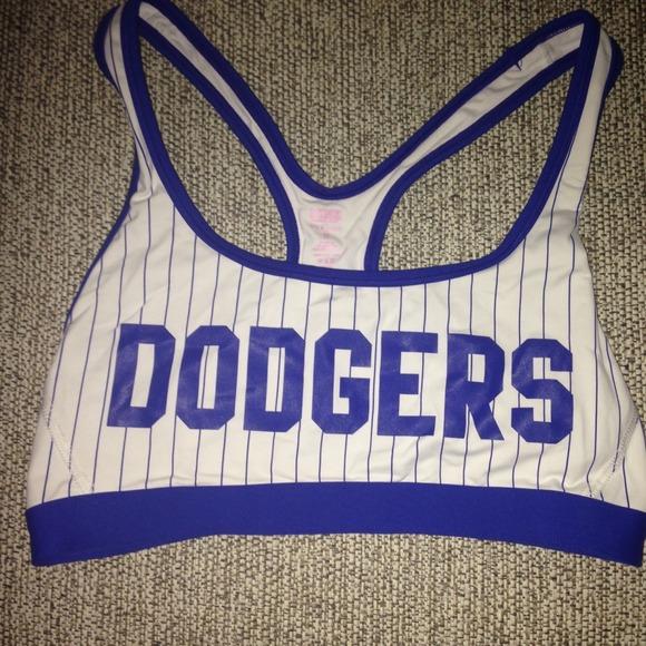 64bdf5c30c9ed Dodgers sports bra by Pink Victoria s Secret. M 54cc6c859c6fcf669e00e8e6