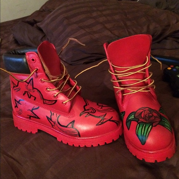 7beef045cb1b3 Timberland Shoes | One Of A Kind Custom Made Boots | Poshmark