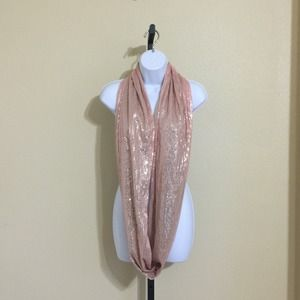 HP 8/24Pastel Pink Sequined Infinity Scarf