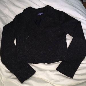 Sparkly black cropped blazer size Small