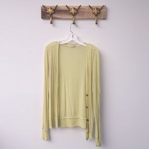 Forever 21 Sweaters - Yellow Comfy Cardigan Sweater