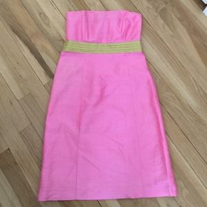 Milly B 100% silk strapless dress