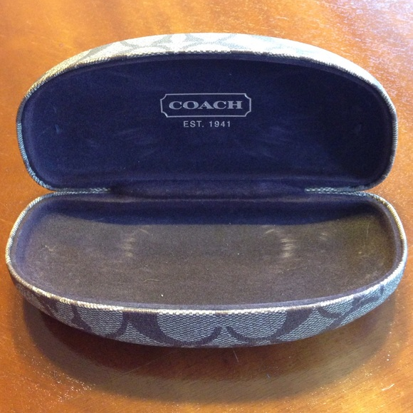 72d7bc8797 Coach Glasses Case In Blue Inside - Bitterroot Public Library