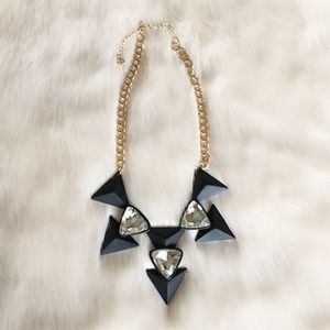 Charming Charlie Jewelry - New Black Triangle Stone Necklace