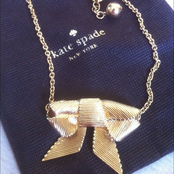 Kate Spade Pearl Bow Necklace: Kate Spade All Wrapped Up Bow