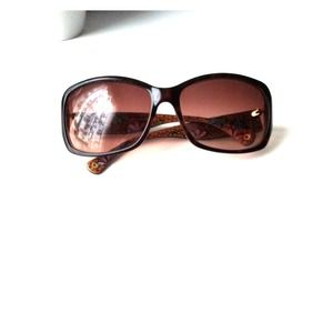 Coach peony and tortoise shell sunglasses