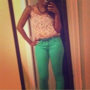 FLASH SALE!! Green Skinny Jeans