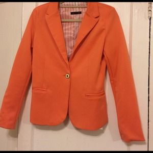 Zara Jackets & Blazers - Orange blazer