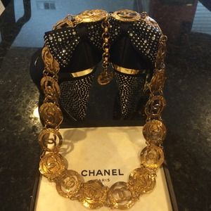 Authentic vintage chanel belt