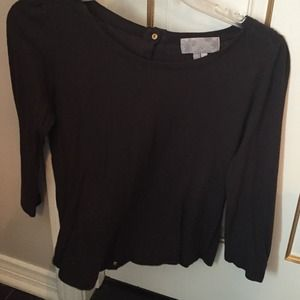 Charcoal grey top with gold studs