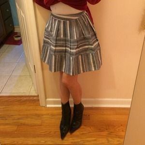 JOA gray striped skater skirt. Mini