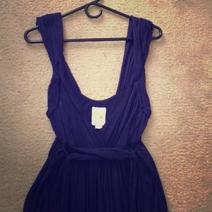 Anthropologie navy dress