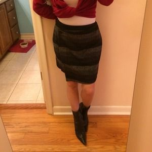 "TULLE vintage inspired wear ""wool"" mini skirt"