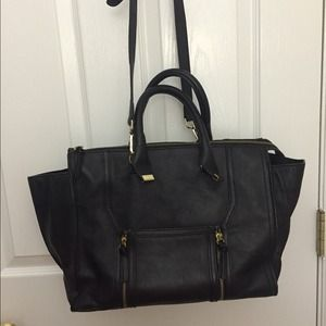 Zara leather zip tote