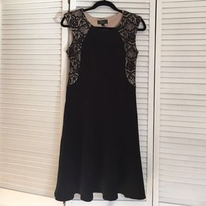 Black lace detail dress.