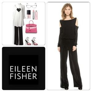 Eileen Fischer Silk Wide-Leg Pants