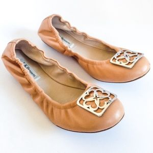 *WAS $150* L.K. BENNETT blush leather ballet flat