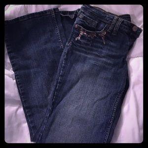 Dark wash jeans boot cut 13 Z. Co embellished