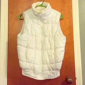 White puffer vest wet seal size large